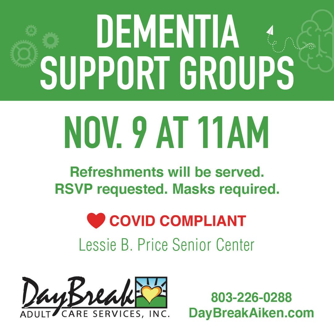 Daybreak Aiken -Dementia Support Groups - November