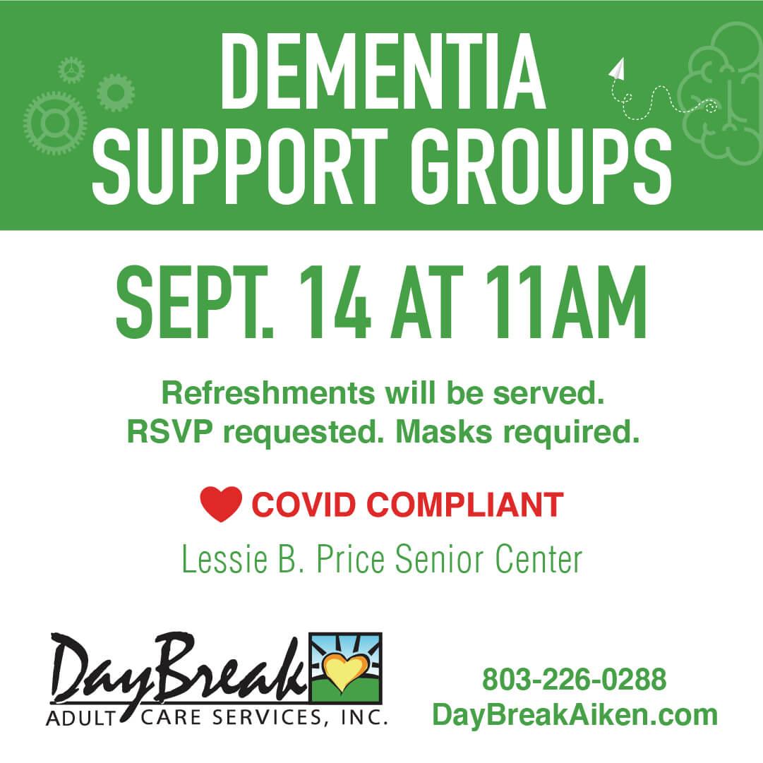 Daybreak Aiken -Dementia Support Groups - September